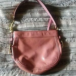 Pink coach mini bag